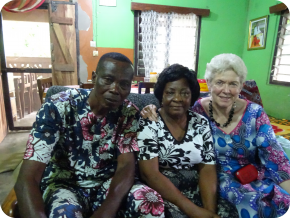 M. Kokou Todjro, président de l'Adich, Mme Akogo et Mme Kloecker